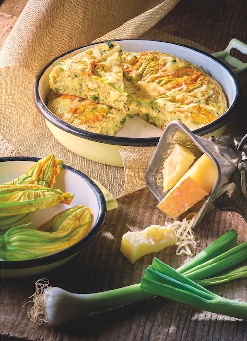 recette de Frittata aux fleurs de courgette