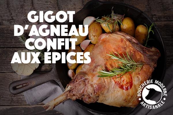 recette de Gigot d'agneau confit aux épices