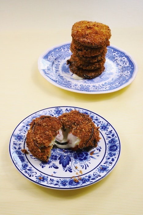 recette de Croquettes d'aubergine farcies à la provola