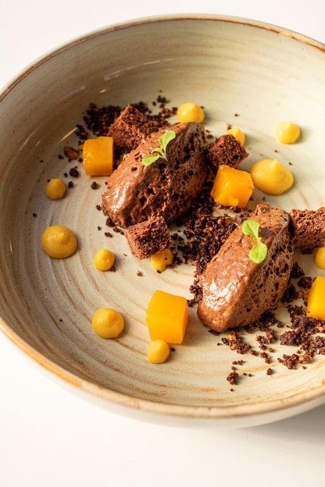 recette de Mousse chocolat au streusel