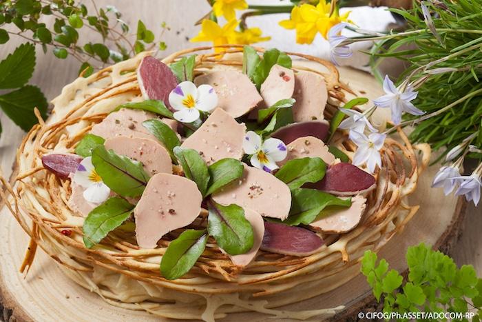 Le nid au foie gras et magret