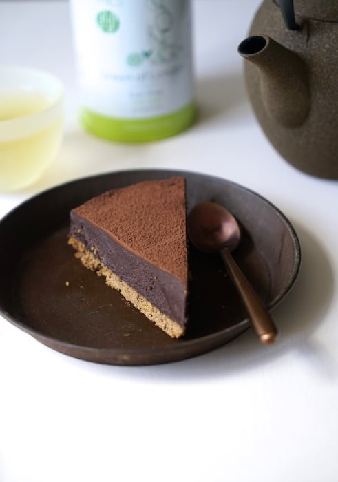 recette de Tarte ganache chocolat au thé
