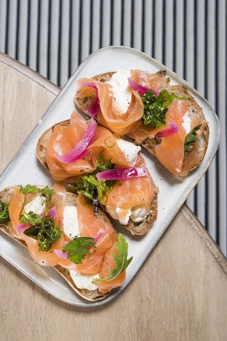 recette de Tartines au saumon fumé Astara