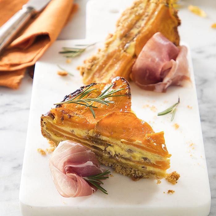 recette de Tarte aux patates douces et jambon