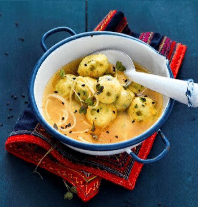recette de Boulettes de légumes au bouillon