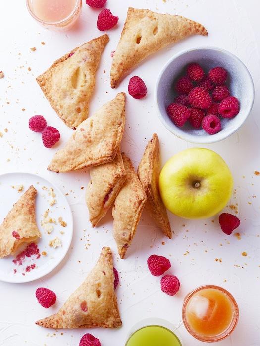 recette de Chaussons Cantal pomme framboise