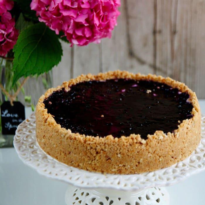 recette de Cheesecake à la confiture de myrtilles