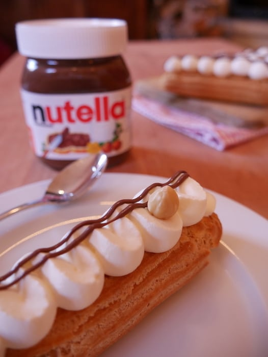 recette Eclairs Nutella Chantilly