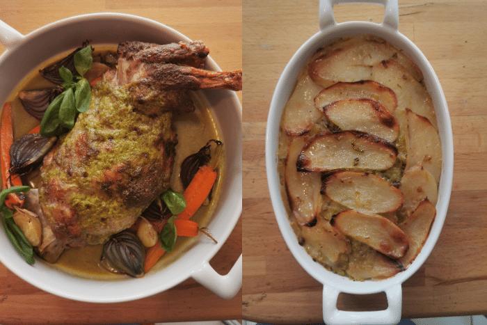 recette Epaule d'agneau moutarde-basilic