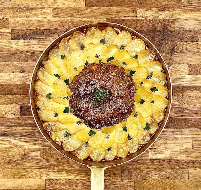 recette Epaule d'agneau en melon