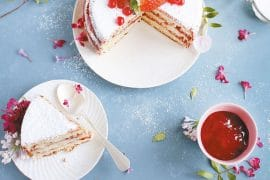 recette de Gâteau léger aux framboises