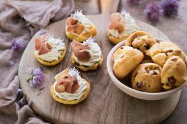 Gougères au jambon cru et ricotta