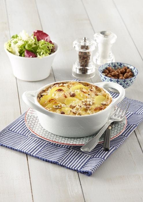 recete de Gratin de pommes de terre aux noisettes