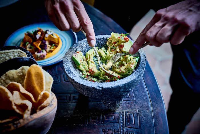 recette de Guacamole et Patatas Bravas