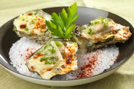 huîtres tiédies à l'Ossau-Iraty