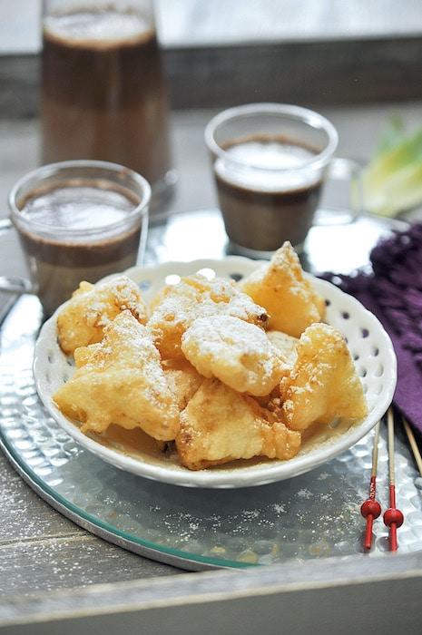 recette de Tempura d'ananas et soupe chocolat
