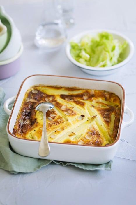 recette de Clafoutis salé aux asperges blanches