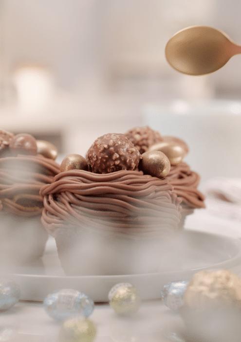 Nids de Pâques au Ferrero Rocher