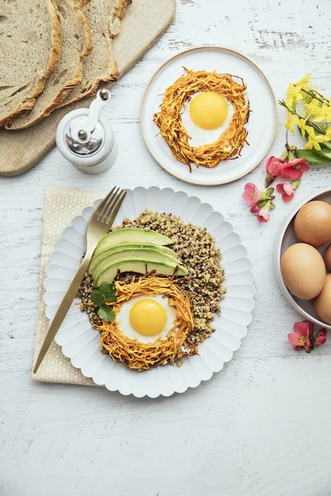 recette Oeufs en nids de patate douce