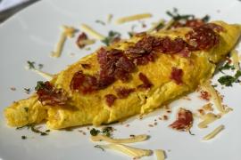 L'omelette printanière aux graines de sésame