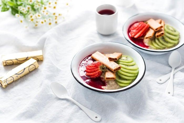 Porridge aux crêpes dentelle