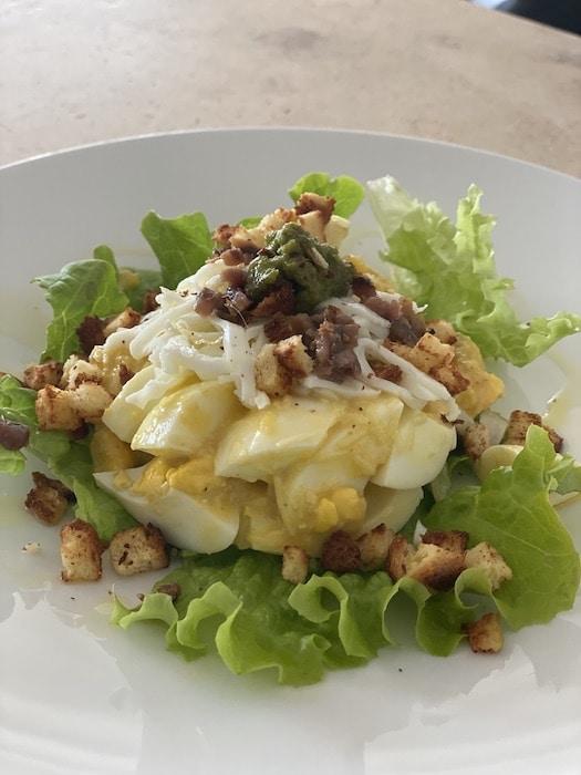 recette de Salade d'œuf façon Caesar