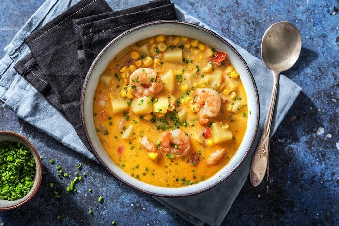 recette de Soupe onctueuse aux crevettes