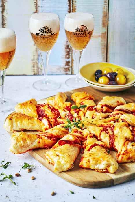 recette de Tarte soleil au pesto de poivron