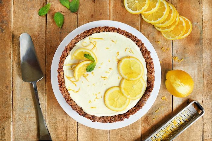 recette de Tarte granola au yaourt au citron