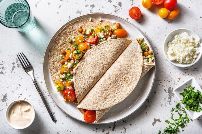 recette de Tortillas aux pois chiches grillés
