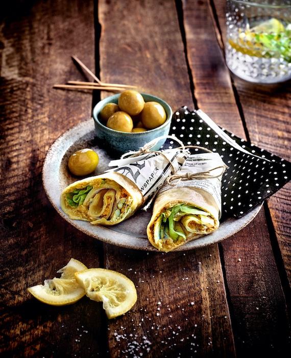 recette de Wraps aux légumes et olives vertes