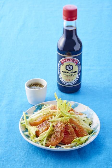 recette de Saumon mariné et céleris