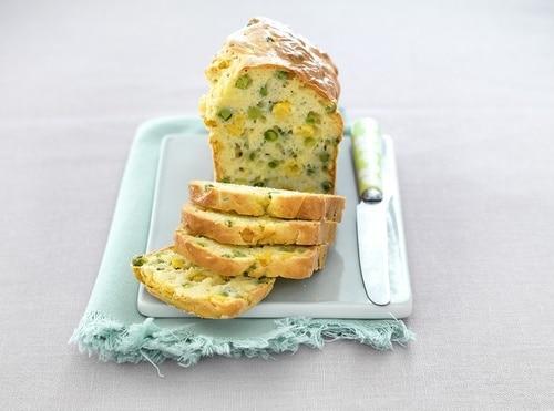 recette de Cake de petits pois et maïs