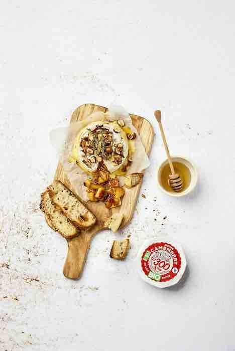 recette de Camembert rôti aux pommes