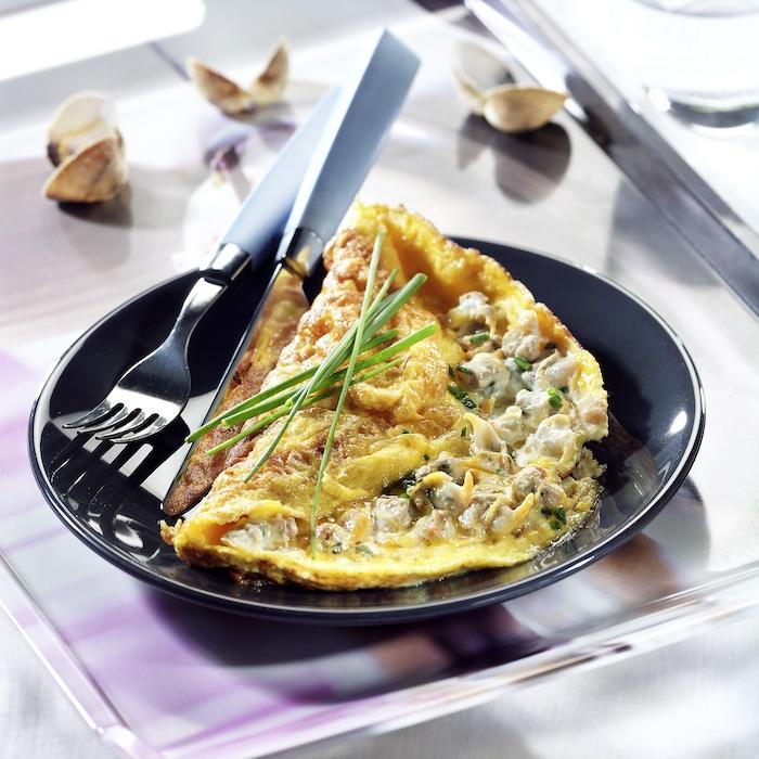 recette d'Omelette aux coques