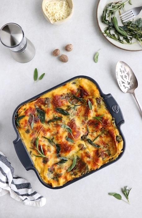 recette de Lasagnes à la courge butternut