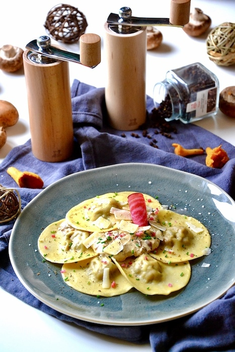 recette de Ravioles maison aux champignons