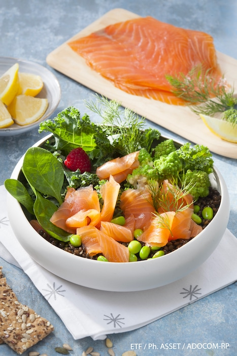 recette de Poké-Bowl au saumon fumé