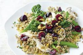 recette de Salade de poulet au quinoa et cerises