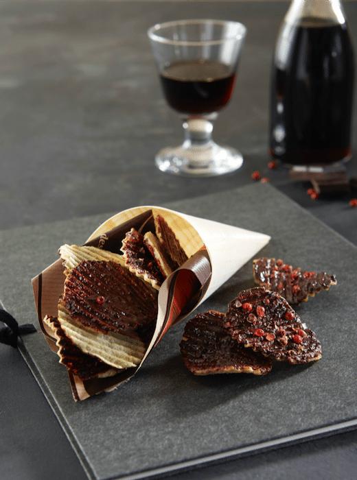 recette de Chips de Pompadour au chocolat