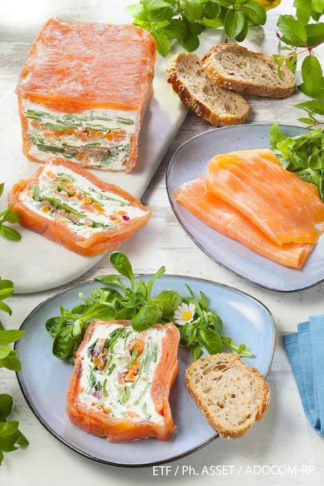 recette de Terrine de saumon fumé aux légumes