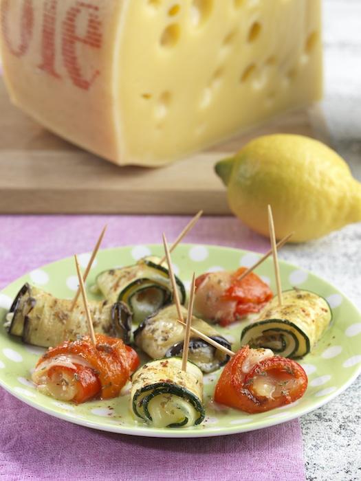 recette de Tapas de légumes grillés à l'Emmental