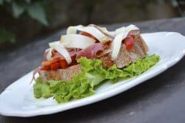 Tartines basques au jambon