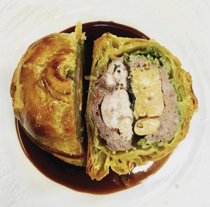 Tourte de volaille et foie gras