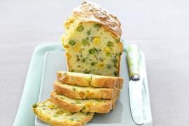 Cake de petits pois et maïs