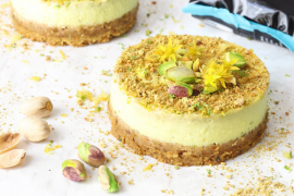 Cheesecake avocat et pistaches