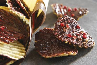 Chips de Pompadour au chocolat