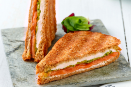 Croque-monsieur saumon et mozzarella