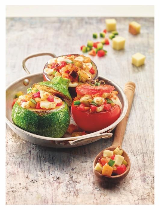 recette de Petits légumes farcis au Beaufort