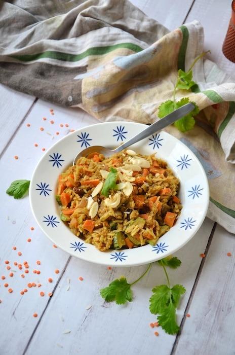 recette de Kitchari de lentilles corail
